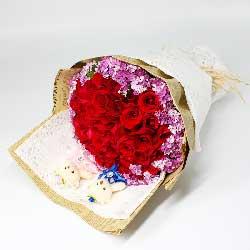 34朵红玫瑰,千山万水总是情