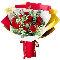 34朵红玫瑰,礼盒装,快乐一生的爱
