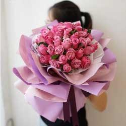 33朵紫玫瑰,幸福甜蜜偶数