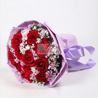 11朵红玫瑰,真的真的好想你