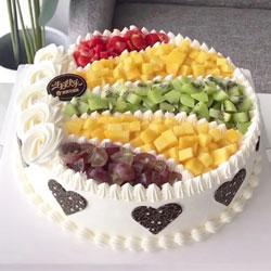 8寸圆形水果蛋糕,最美丽的回忆
