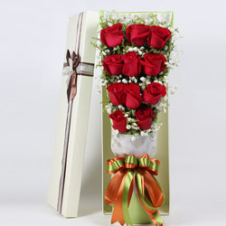 11朵红玫瑰,礼盒装,想你了,亲爱的