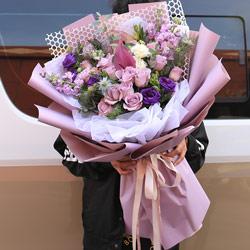 19朵紫玫瑰,你就是我的整个世界