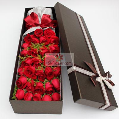 34朵红玫瑰,礼盒装,你是我的温柔陷阱
