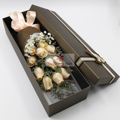 11朵香槟玫瑰,礼盒装,你是我的人生四季