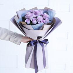 18朵紫玫瑰,浪漫温馨的世界