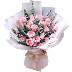52朵戴安娜粉玫瑰,爱的心跳