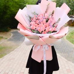 32朵戴安娜粉玫瑰,时刻把你想念
