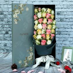 33朵玫瑰,礼盒装,一颗难忘你的心