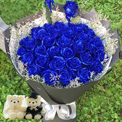 30朵蓝玫瑰,爱你一辈子永不改变