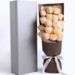 19朵香槟玫瑰,亲爱的要开心哦