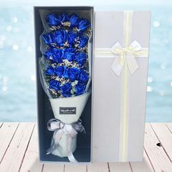 19朵蓝色妖姬,礼盒装,你是我的灯塔