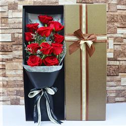 11朵红玫瑰,礼盒装,相守是一生的幸福