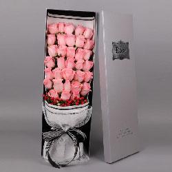 33朵戴安娜粉玫瑰,相爱幸福到永远