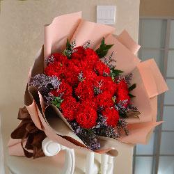 18朵红色康乃馨,您无私的爱