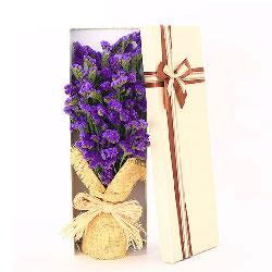 一扎紫色勿忘我,礼盒装,爱的问候