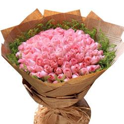 99朵戴安娜粉玫瑰,爱上你是种美妙的幸福