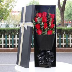 11朵红玫瑰,礼盒装,真的好想你