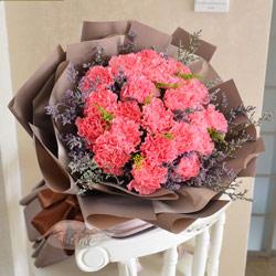 19朵粉色康乃馨,至高的爱