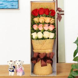 16朵玫瑰,礼盒装,遇见你真好