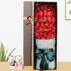 34朵红玫瑰,礼盒装,你在想我吗
