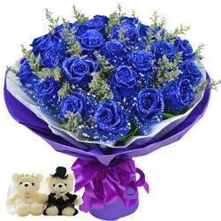 19朵蓝玫瑰,爱和幸福全部都到