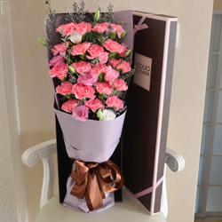 19朵粉色康乃馨,礼盒装,您幸苦啦