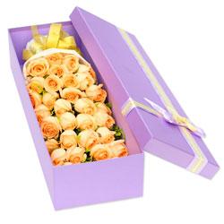 33朵香槟玫瑰,礼盒装,你我的爱情真谛