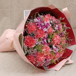 19朵粉色康乃馨,让你成为最幸福的人