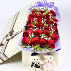 23朵红色玫瑰,甜蜜的爱情永随你