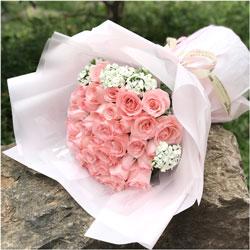 33朵戴安娜粉玫瑰,每天都有好梦