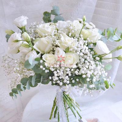 17朵白玫瑰,我爱你想你思念你