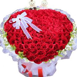 99朵红玫瑰,爱你甜在心间