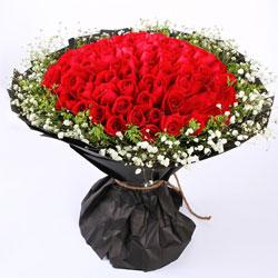 99朵红玫瑰,乐在心里头