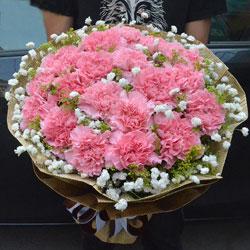 19朵粉色康乃馨,千言万语的爱