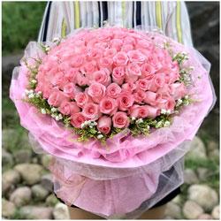 50朵戴安娜粉玫瑰,我要陪你度过以后的每一个生日