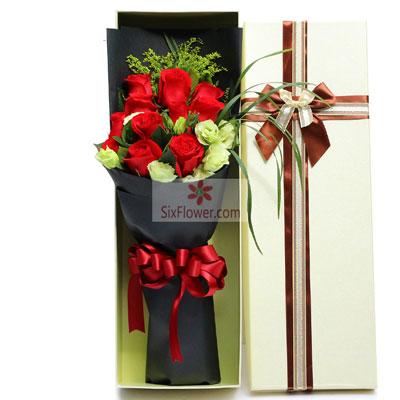 11朵红玫瑰,9朵桔梗,你就是我…