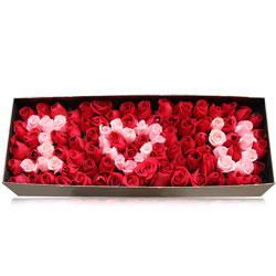 99朵玫瑰,礼盒装,风花雪月