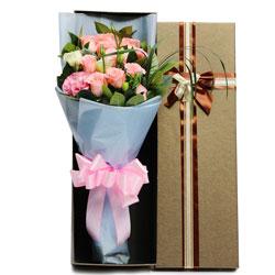11朵戴安娜粉玫瑰,礼盒装,你是我看不够的风景