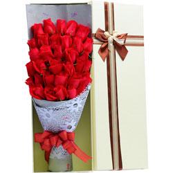 30朵红玫瑰,礼盒装,你是我生命里美丽的风景线