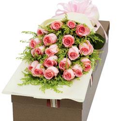 19朵戴安娜粉玫瑰,礼盒装,爱你的誓言不会忘