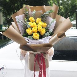 9朵黄玫瑰,原谅我吧!我知道错了