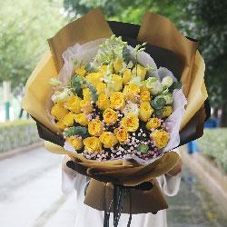 30朵黄玫瑰,快乐莫你属