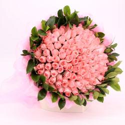 100朵戴安娜粉玫瑰,愿快乐与您常伴
