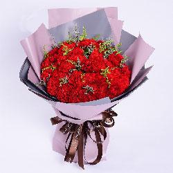 33朵红色康乃馨,愿您在未来的岁月中永远快乐健康