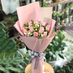 11朵戴安娜粉玫瑰,一生与你和和美美