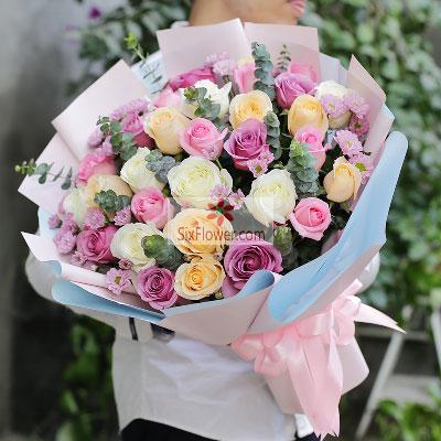 33朵玫瑰,玫瑰混搭,一生一世决不后悔