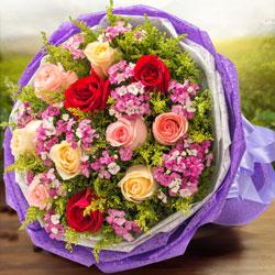 11朵玫瑰,混搭,此生与你与共