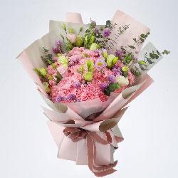 33朵粉色康乃馨,大大的幸福享不完