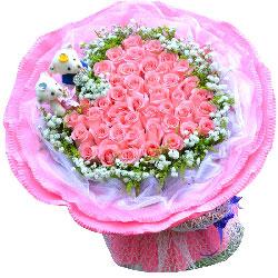 42朵戴安娜粉玫瑰,有你我的世界更美